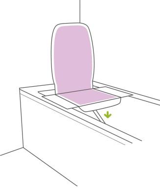 Klassischer Badewannenlift