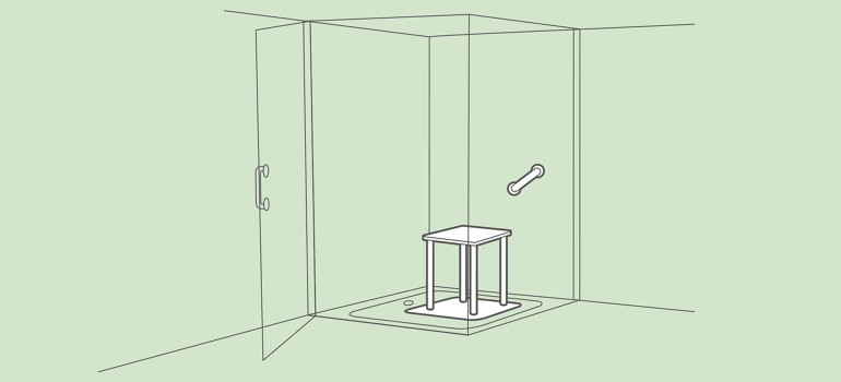 Barrierefreie begehbare ebenerdige Dusche