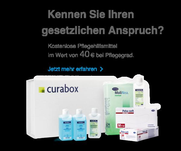 Monatlich Kostenlose Pflegehilfsmittel mit der curabox