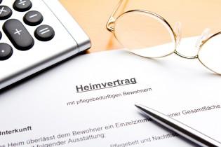 Heimvertrag Altenheim
