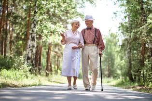 Senioren gehen spazieren: Leben im Alter