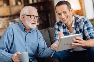 media4care Tablet Pflegende Angehörige