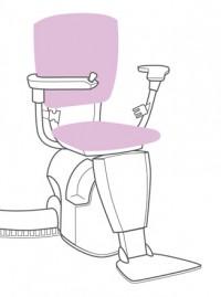 Grafik eines Beispiel-Sitzliftes