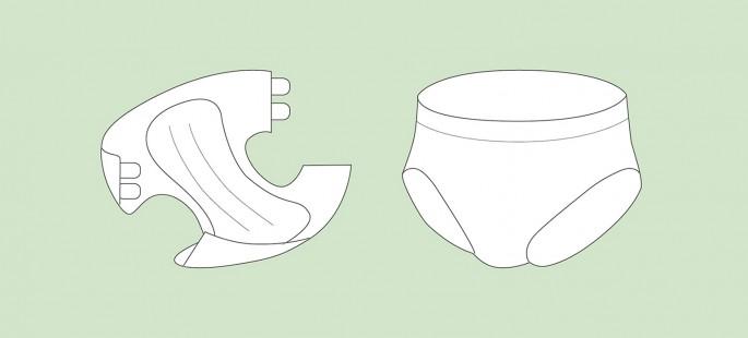 Windeln und Windelhosen für Erwachsene